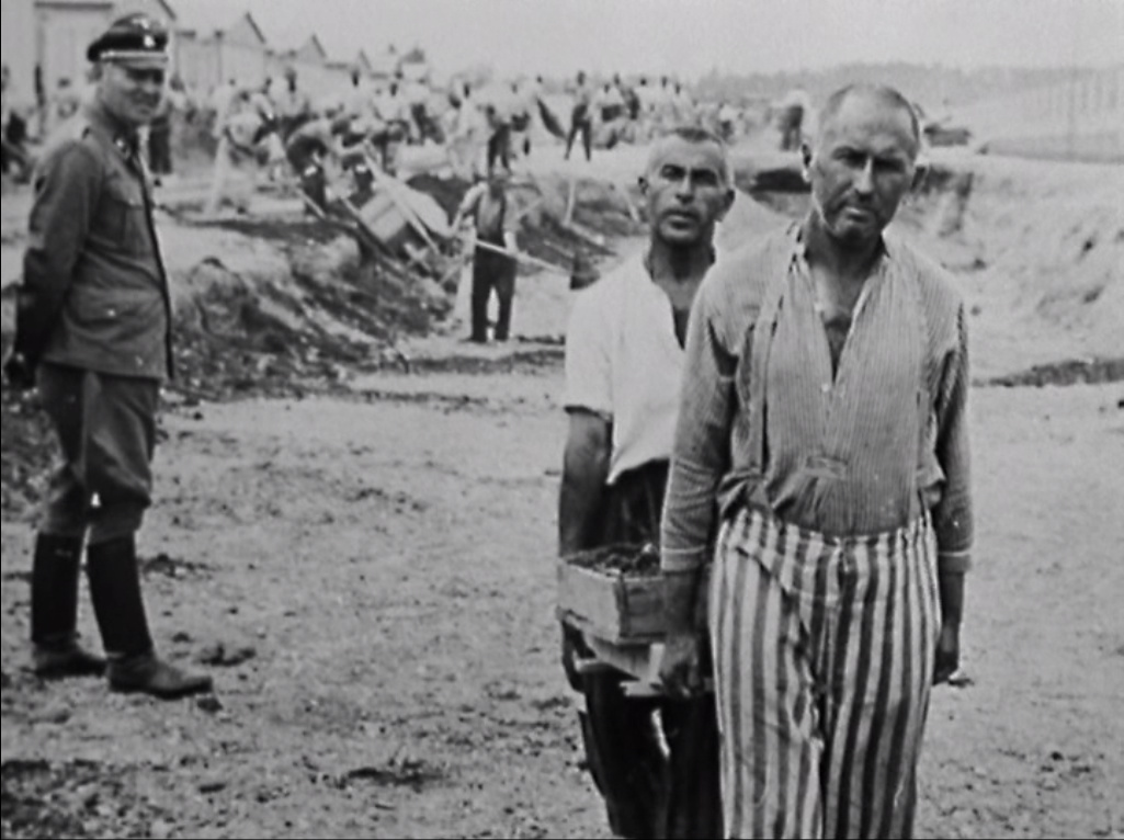 Prisoners working at camp
