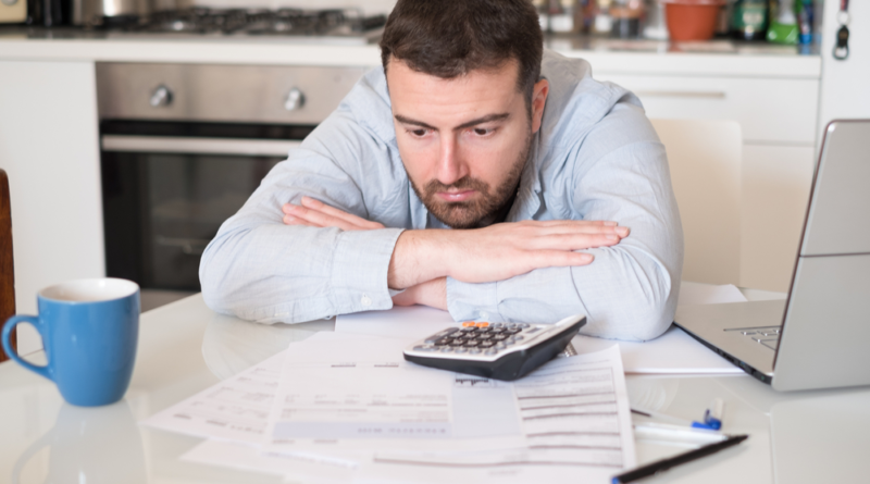 man worried about his financial situation